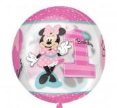 Balão Orbz Minnie Disney 1st Birthday