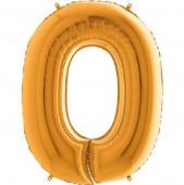 Balão Ouro/Dourado Nº 0 Foil 86cm