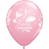 Balão Primeira Comunhão Rosa 11