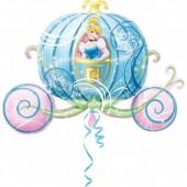 Balão Princesa Cinderela Carruagem 83cm