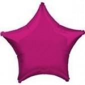 Balão Rosa Fúchsia Metalizado Estrela 45cm