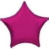 Balão Rosa Fucsia Metalizado Estrela 45cm