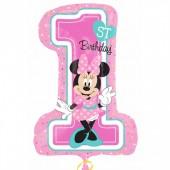 Balão Super Shape 1º Aniversário Minnie 71 cm