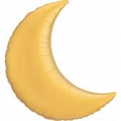 Balão Super Shape Lua Dourado