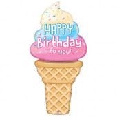 Balão Supershape Gelado Happy Birthday to You 165cm