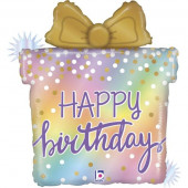 Balão Supershape Presente Happy Birthday 69cm