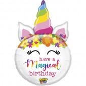 Balão Supershape Unicórnio Magical Birthday 84cm