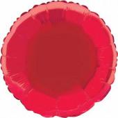Balão Vermelho Metalizado 45cm