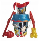 Balde para praia com  acessorios Mickey/Minnie