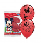 Baloes de Latex Mickey 6 unid