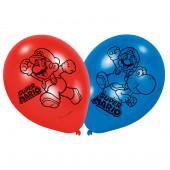 Balões Latex Super Mário 6 unid