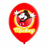 Balões Mickey 4 Cores - 6 Und