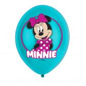 Balões Minnie Mouse 4 Cores - 6 Und