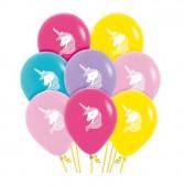 Balões Unicórnio 12 unid
