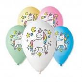 Balões Unicórnio 30cm 5 unid