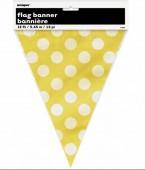 Bandeirola amarelas bolinhas 3,65m