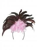 Bandolete Brasileira plumas Rosa