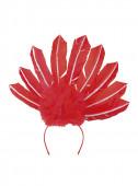 Bandolete Penas Vermelho