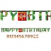 Banner Faixa Jumbo Minecraft TNT Party