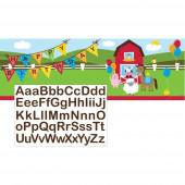 Banner Faixa Personalizável Animais da Quinta Farmhouse Fun