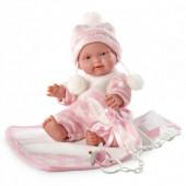 Bebé com Manta Rosa 26 cm