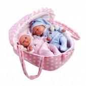 Bebés Elegance 28 cm Gémeos com Alcofa