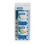 Blister 2 caixas de giz branco e giz de cor -  Milan