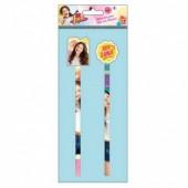 Blister 2 Lápis + borracha 3D Disney Sou Luna