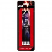 Blister 5 lápis c/ borracha Disney Star Wars