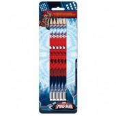 Blister 5 lápis c/ borracha Marvel Spiderman