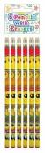 Blister 6 lápis c/ borracha Emoji