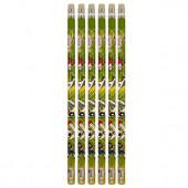 Blister 6 lápis c/ borracha Futebol