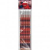 Blister 6 lápis c/ borracha Marvel Ultimate Spiderman