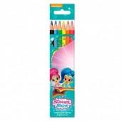 Blister 6 lápis de cor Shimmer e Shine