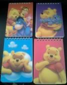Bloco A6 espiral  Winnie The Pooh, sortido