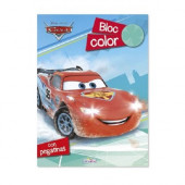 Bloco Colorir Autocolantes Cars