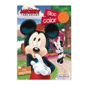 Bloco colorir Mickey Disney