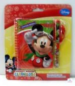 Bloco espiral c/ caneta Mickey & Friends