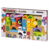 Blocos de animais de madeira Play & Learn