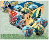 Bola Batman versus Superhomem de 15cm
