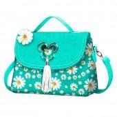 Bolsa com aba e pega Mickey Disney - Aqua