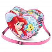 Bolsa Coração Princesa Ariel Coral