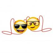 Bolsa em Forma redonda Emoji óculos - Sortido