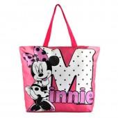 Bolsa grande em rosa Praia Minnie 41x39x14cm