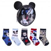 Bolsa + Meias Bebé Mickey