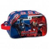 Bolsa necessaire adap trolley Marvel Iron Man vs Capitão América