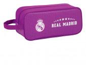 Bolsa necessaire porta sapatos lilás Real Madrid