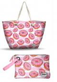 Bolsa Praia + Necessaire Oh My Pop Donut
