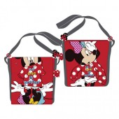 Bolsa tiracolo 21cm Minnie e Mickey Mouse