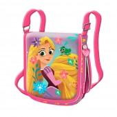 Bolsa tiracolo com aba Rapunzel